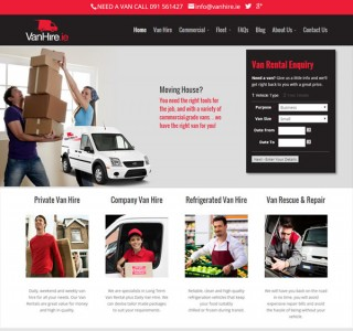 Van Hire & Truck Rental Web Design Galway Ireland