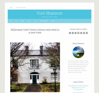 Visit Shannon Tourist Website Design