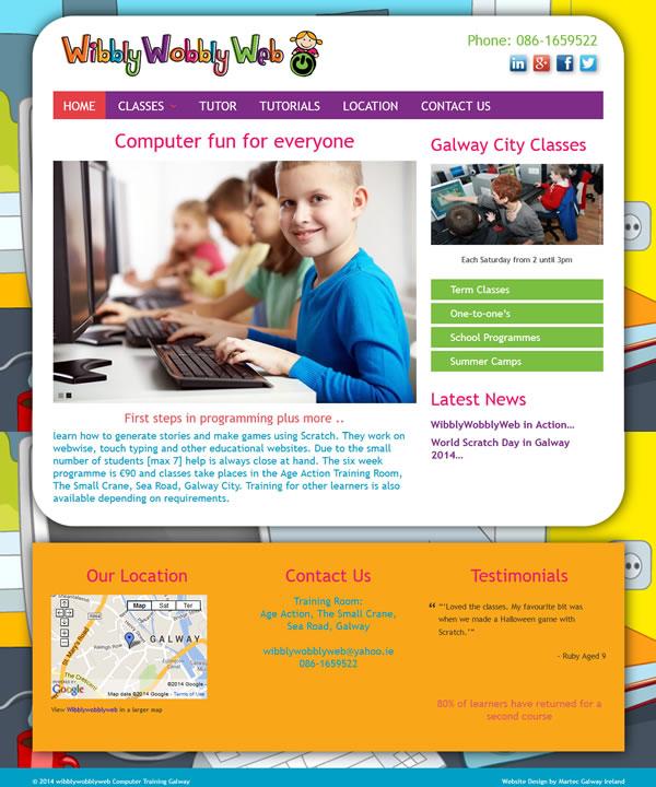 Wibblywobblyweb Computer Training Galway Web Design