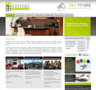 Winters Property Management Galway Website