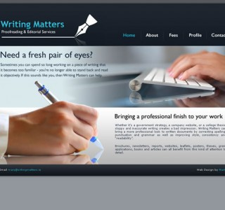 Writing Matters Galway Logo and Website Design