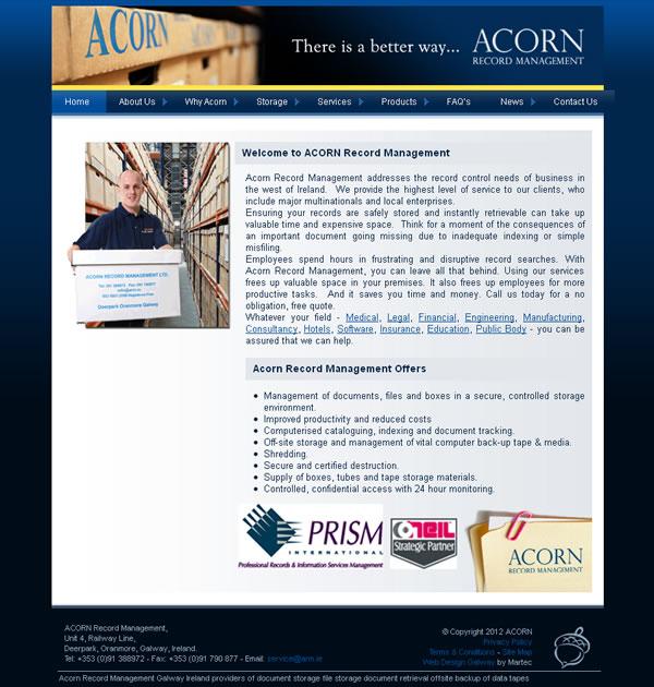 Acorn Website Design Galway