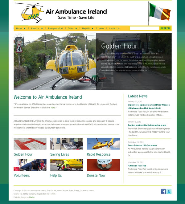Air Ambulance Ireland Logo Design and Website