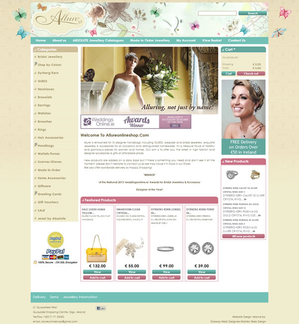 Allure Designer Sligo Ecommerce Website Design