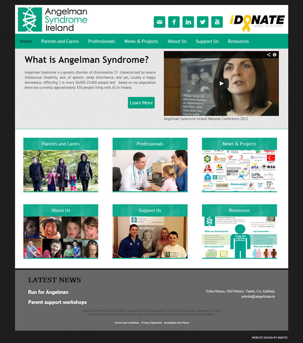 Angelman Syndrome Ireland Responsive Web Design
