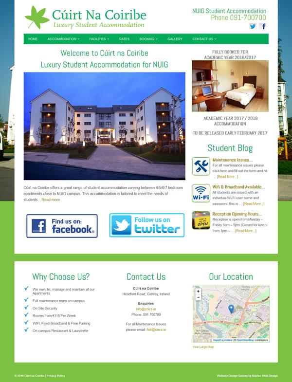 Cúirt na Coiribe Web Design Galway