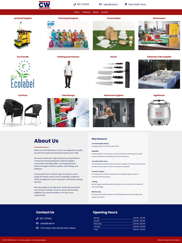 CW Distributors – Cleaning Hygiene, and Catering Supplies
