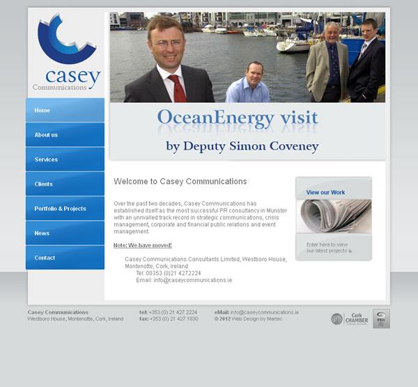 Casey Communications Cork Logo and Web Site Design