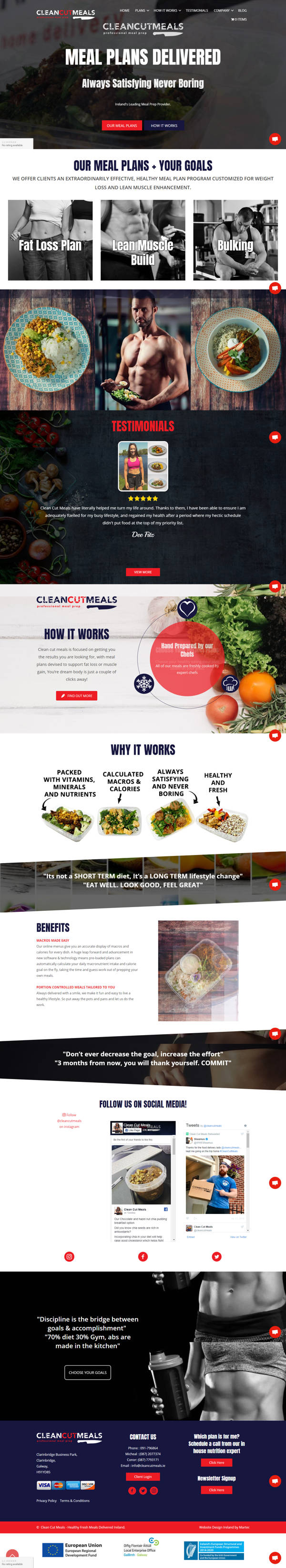 Clean Cut Meals – Healthy Fresh Meals Delivered Ireland