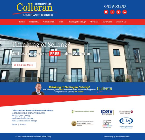 Collerans Auctioneers Web Design Galway