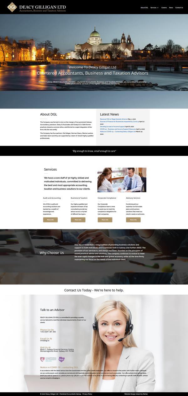 Deacy Gilligan Web Design Galway