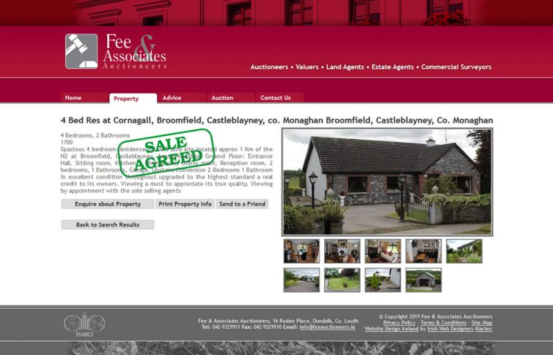 Fee Auctioneers Logo & Website Design