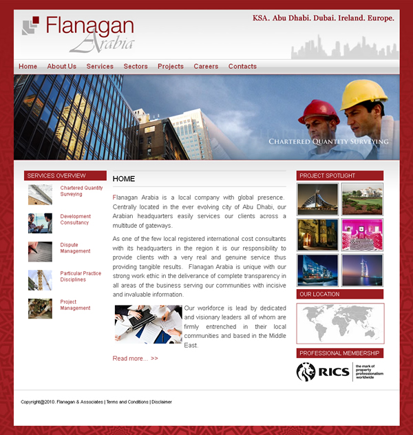 Flanagan Arabia Website Design