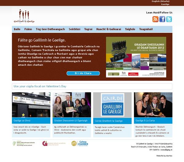 Gaillimh le Gaeilge Website Design