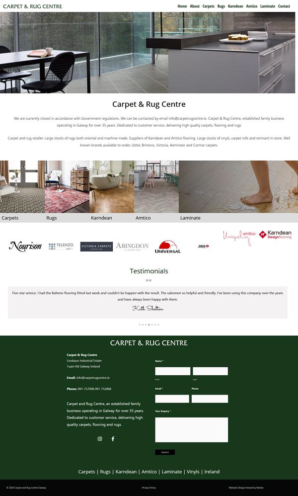 Galway Carpet and Rug Centre Web Design Galway
