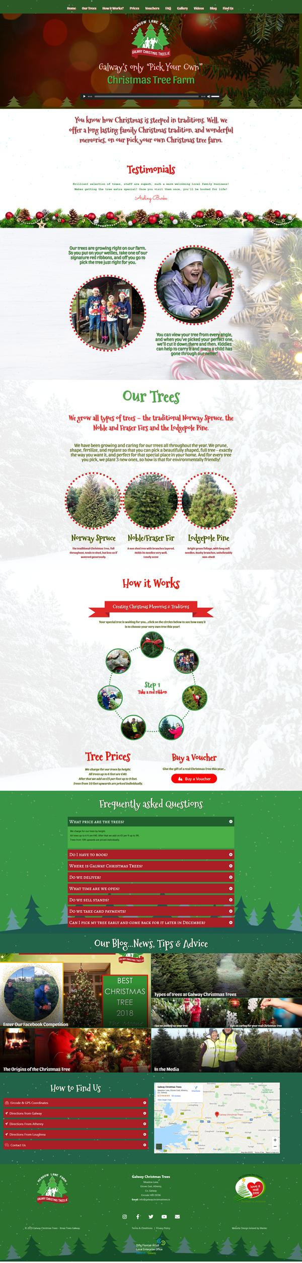 Galway Christmas Trees Web Design Galway