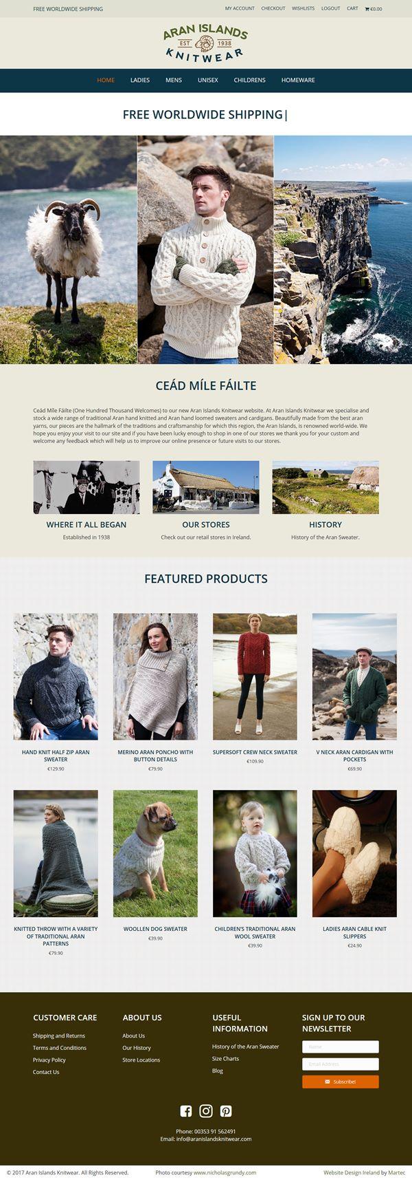 Galway Woollen Market Ecommerce Website Design Galway