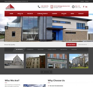 Ganson Building & Civil Engineering Web Design Ireland
