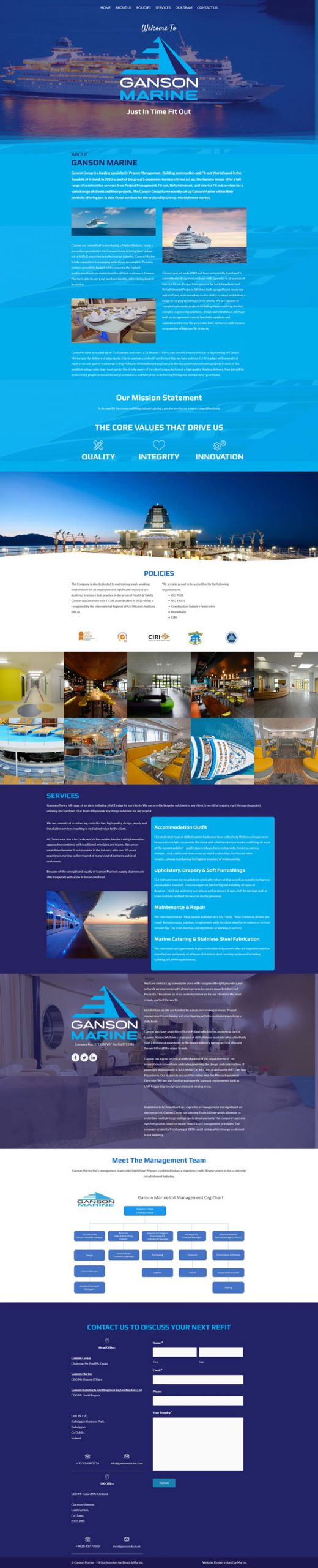 Ganson Marine – Fit Out Interiors for Boats & Marine