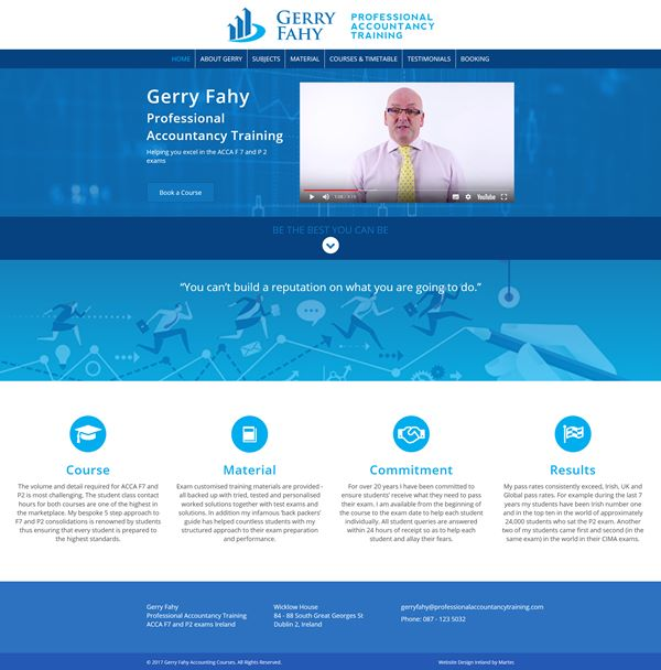 Gerry Fahy Logo & Web Design Dublin
