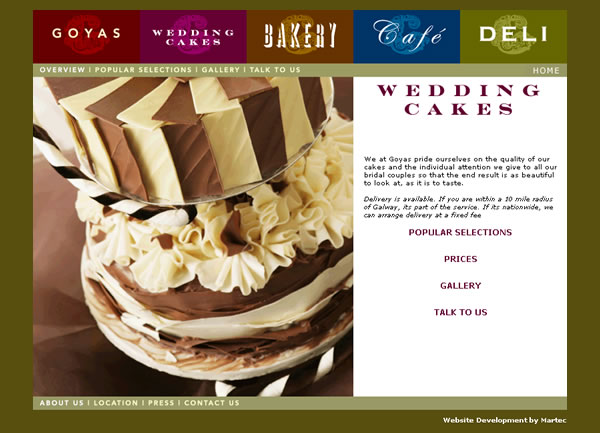 Goyas Galway Website Design