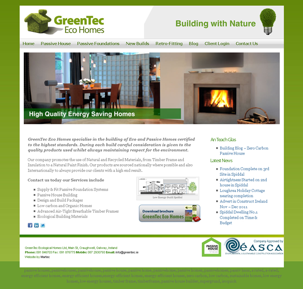 GreenTec Homes Galway Web Design