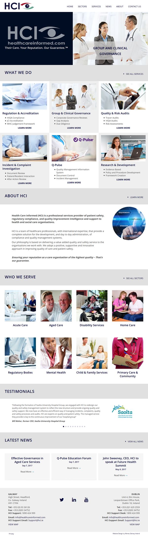 Healthcare informed Web Design Galway