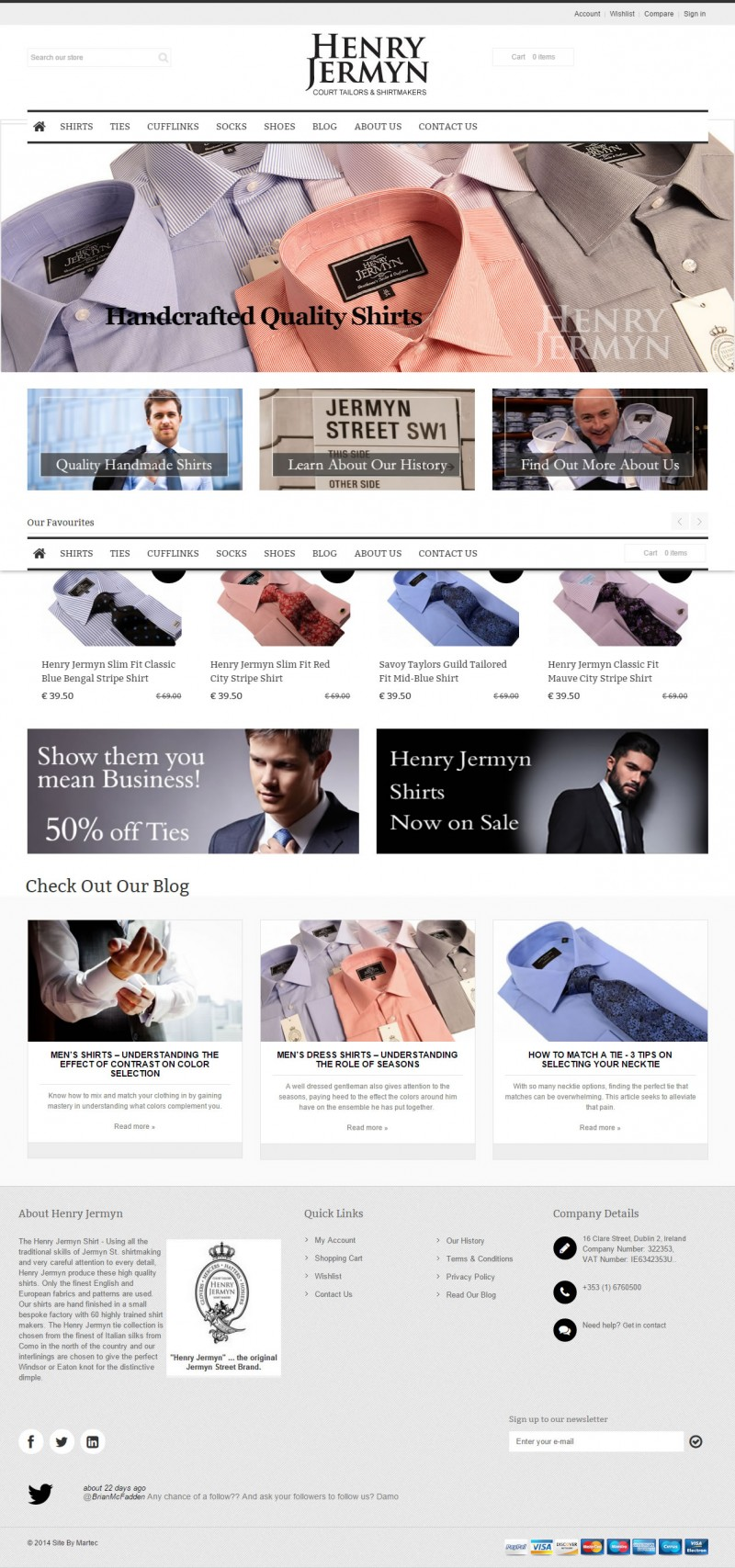Henry Jermyn Ecommerce Website Design Dublin