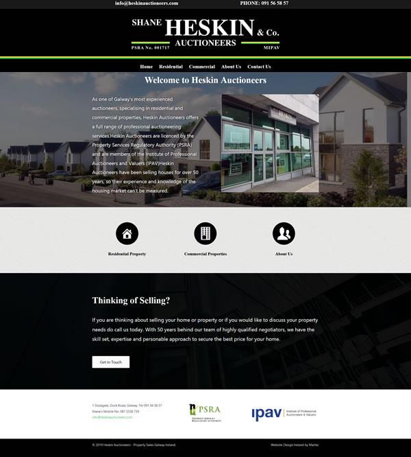 Heskin Auctioneers Website Design Galway