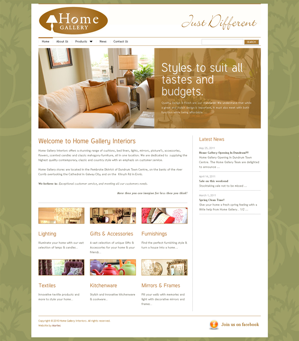 Image gallery home gallery galway for Home design websites