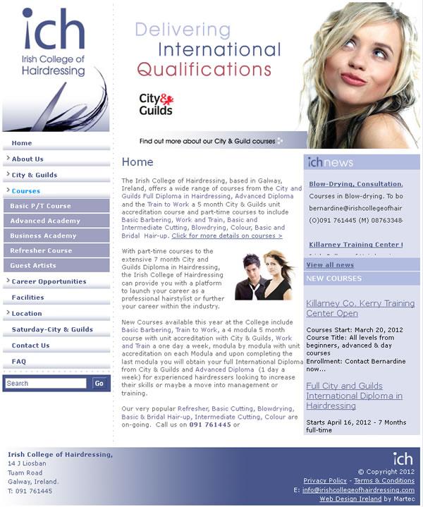 ICH Galway Logo Design and Web Design