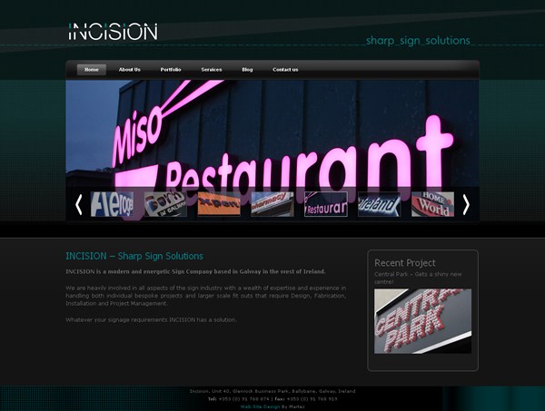 Incision Signs Galway Website Design