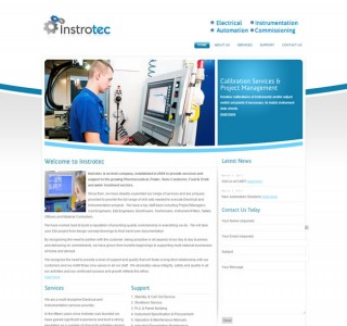 Instrotec Ireland Construction Logo & Website Design