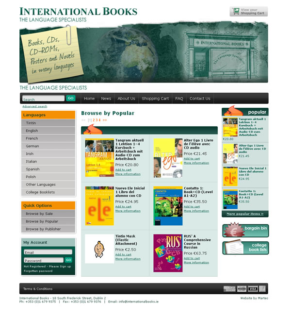 International Books Bookstore Ecommerce Website