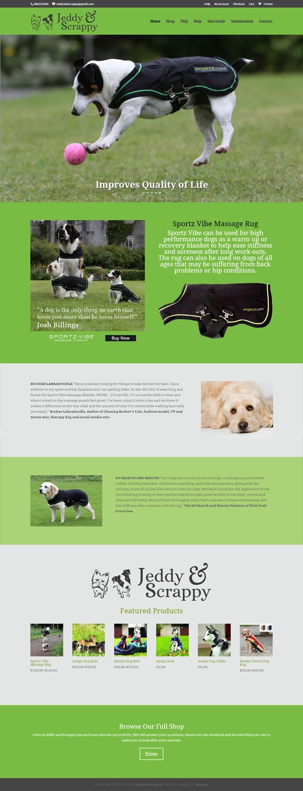 Jeddy & Scrappy Galway Logo & Website Design