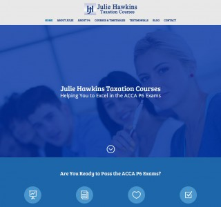 Julie Hawkins Taxation Courses Ireland Website Design