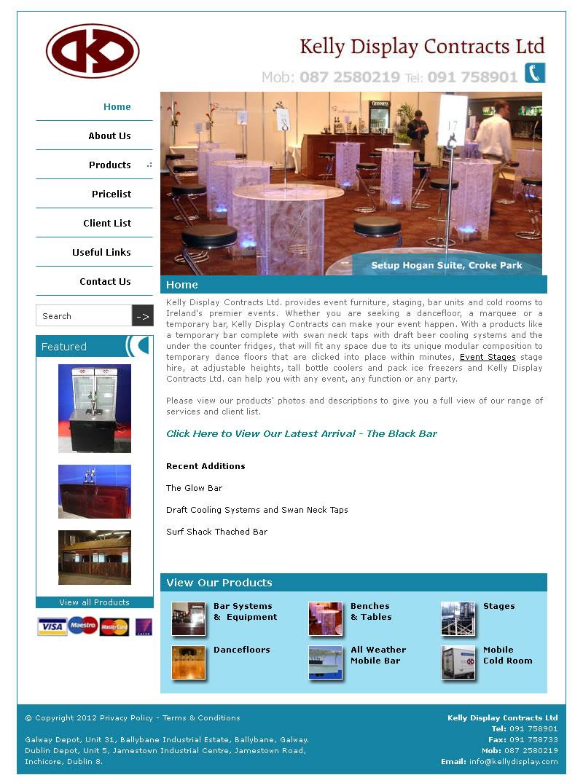 Kelly Display Website Design Galway