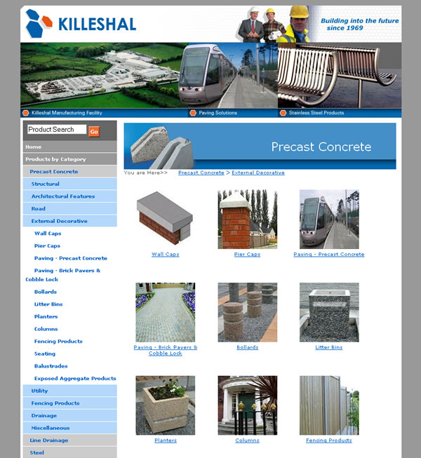 Killeshal Precast Logo and Website Design