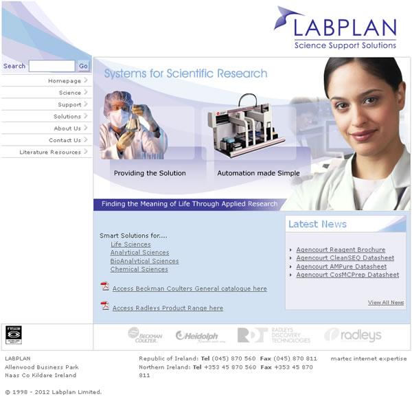 Labplan Logo and Website Design