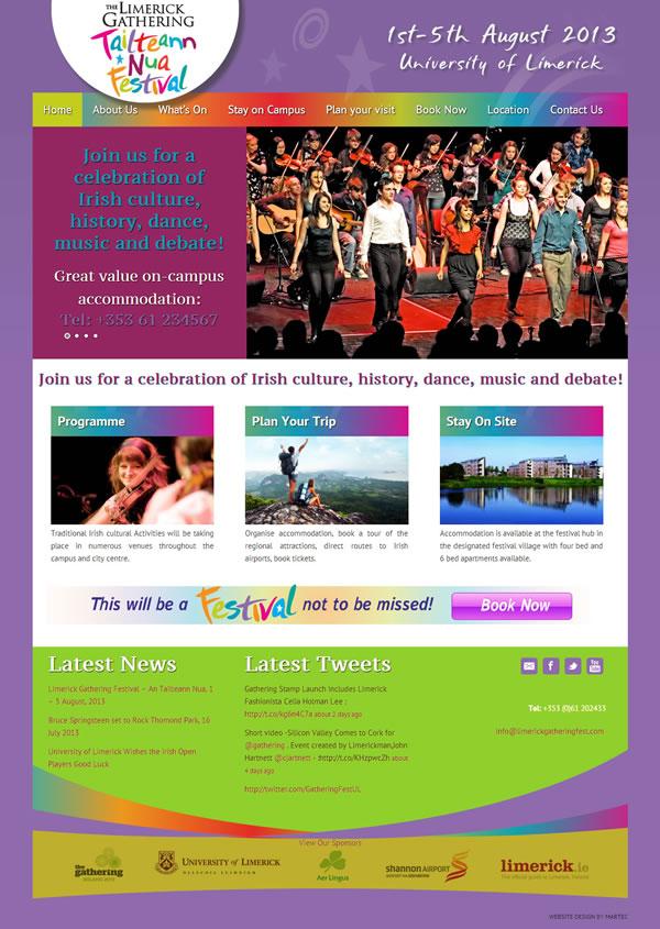 Limerick Gathering Festival Website Design