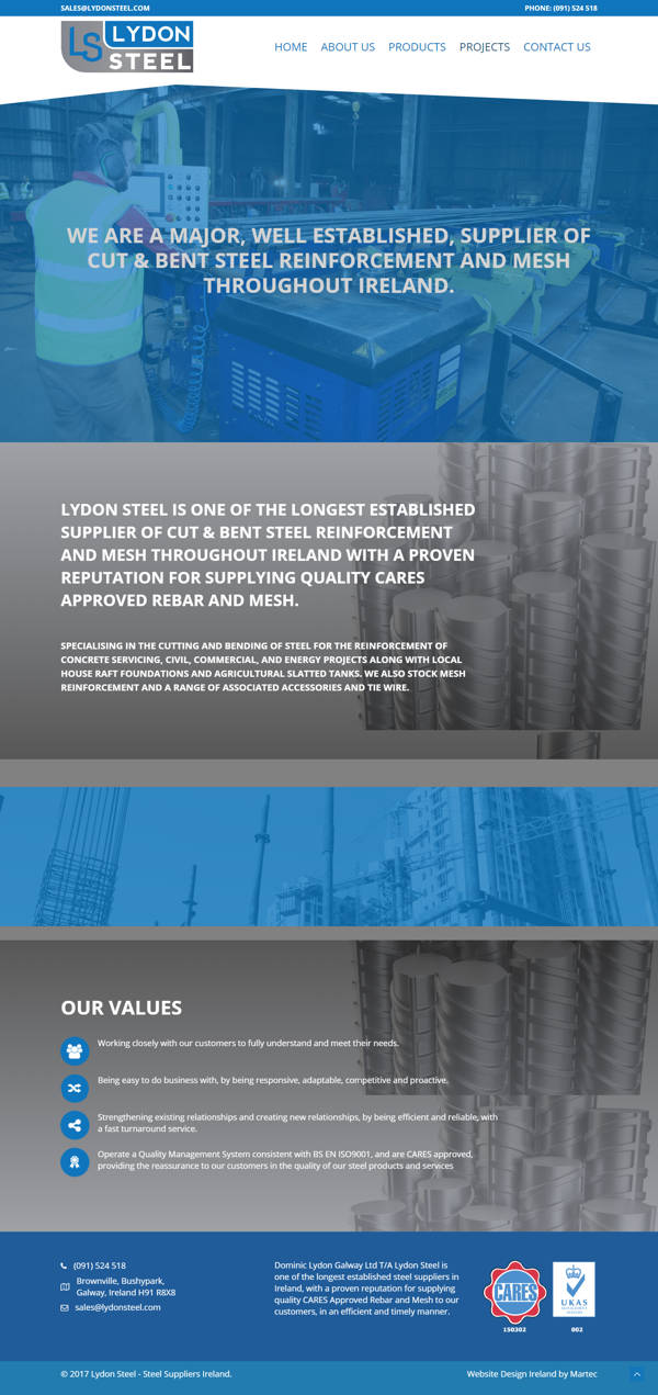 Lydon Steel – Steel Suppliers Ireland