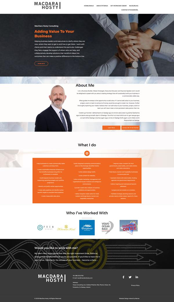 MacDara Hosty Web Design Galway