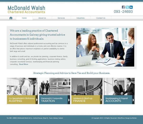 McDonald Walsh Accountants Website Galway Ireland