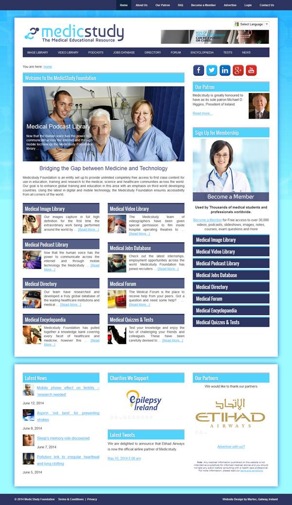 Medicstudy Galway Logo & Website Design