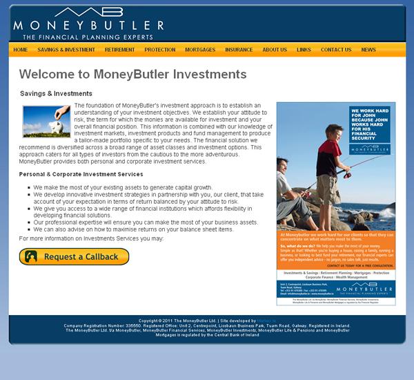 MoneyButler Galway Website Design