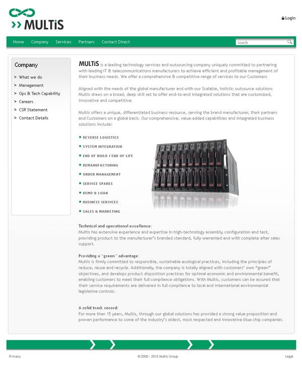 Multis Group Galway Website Design