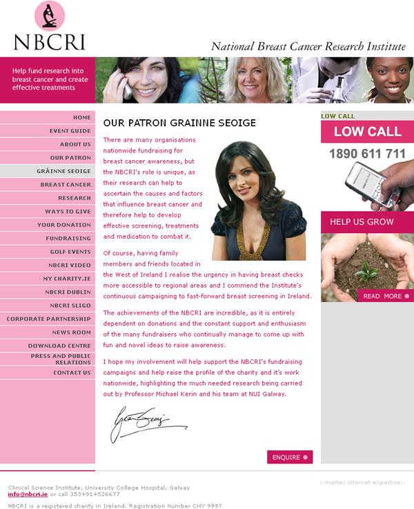 NBCRI Charity Website Design