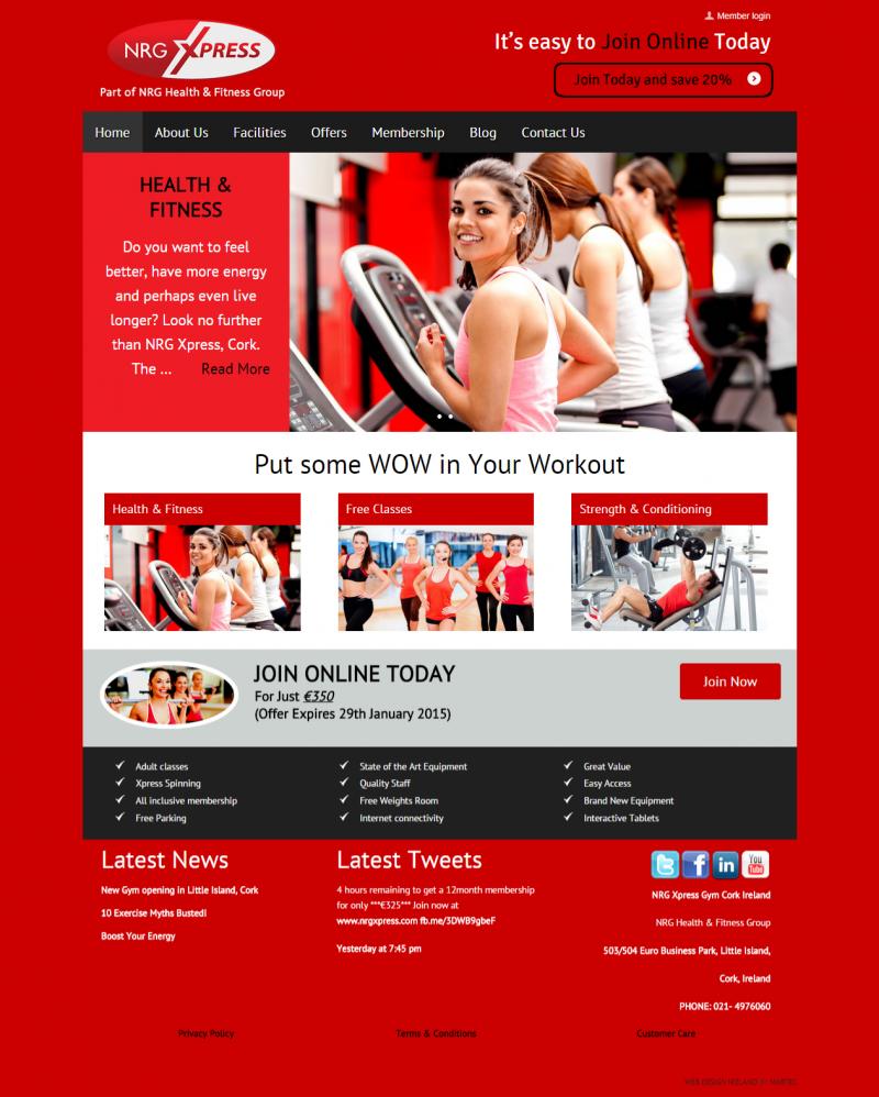 NRG Xpress Gym Cork Ireland Health Club classes weight loss Cork Ireland