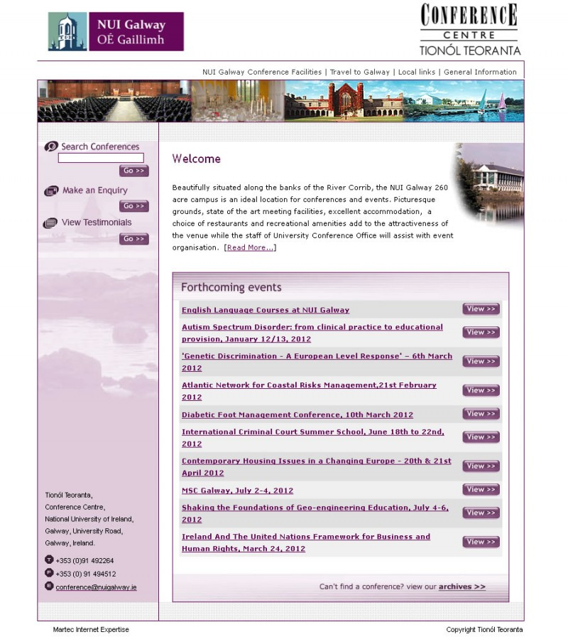 NUI Galway Conference Website