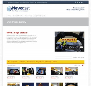 NewsCast Image Library Website Design Ireland